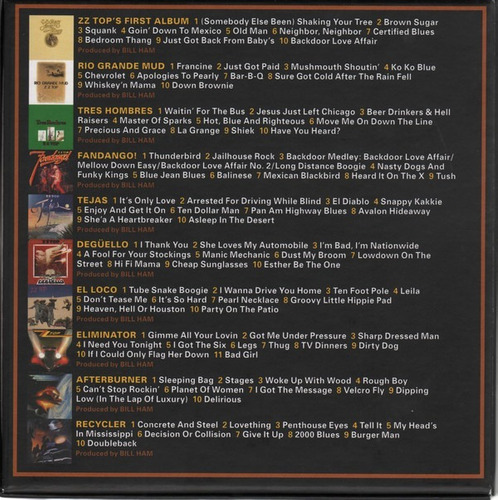 zz top - the complete studio albums 1970-1990 - box 10 cd's