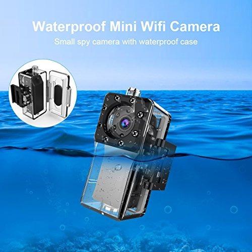 zzcp - mini cámara de espionaje impermeable con wifi, full